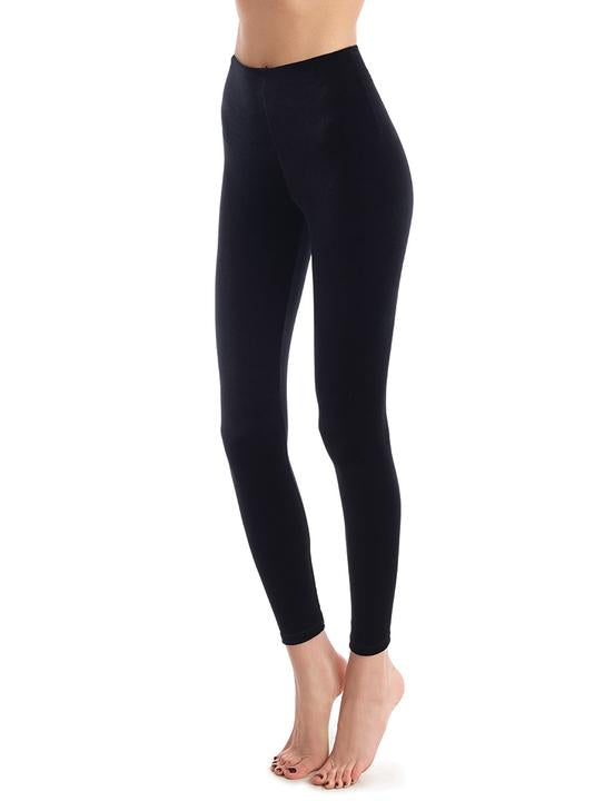 Velvet Leggings with Perfect Control in Black