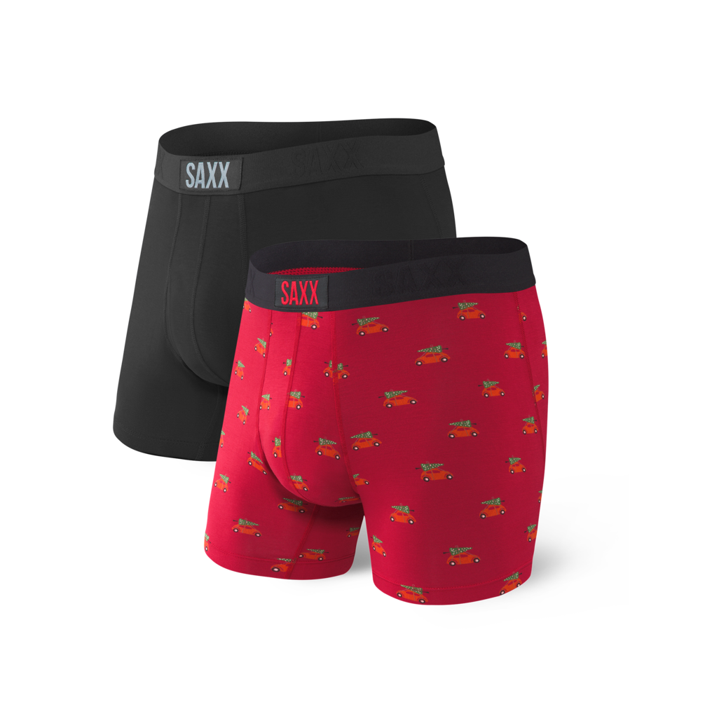 VIBE Boxer Brief 2-Pack in Black Holiday Errand