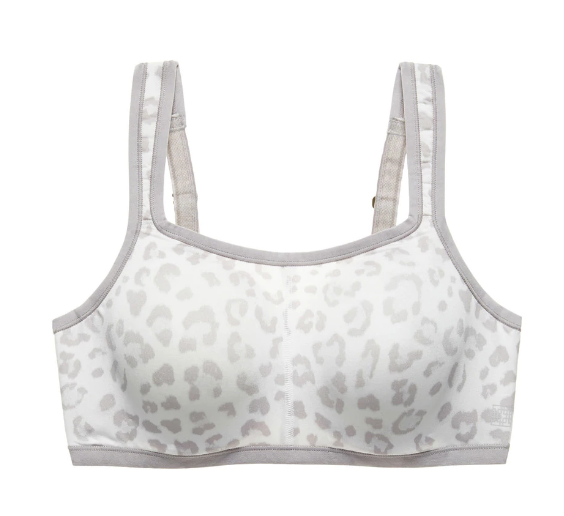 YOGI Convertible Underwire Sports Bra in Lead Cheetah