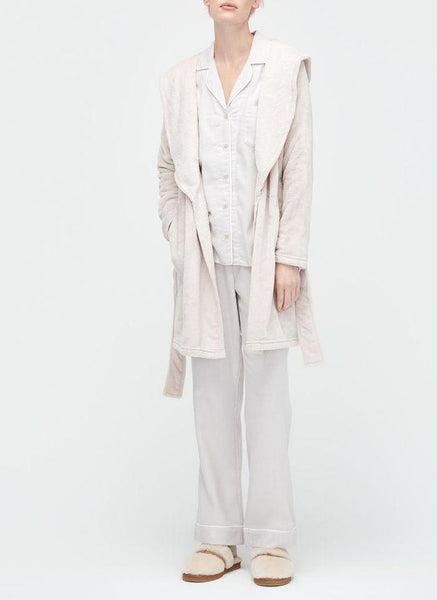 MIRANDA Hooded Fleece Robe in Moonbeam
