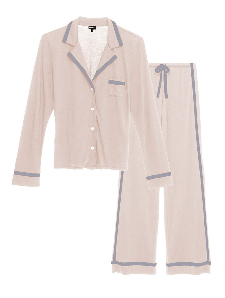 AMORE Bella L/S & Pants PJ Set in Pink Dust