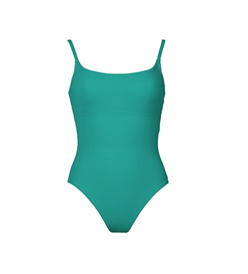 Basic Round Neck Tank Silent Underwire in Sea