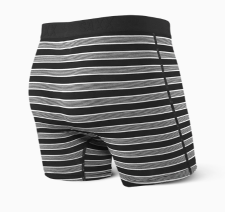 ULTRA Boxer Brief w/ Fly in Black Crew Stripe