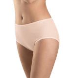 Cotton Seamless Full Brief in Beige