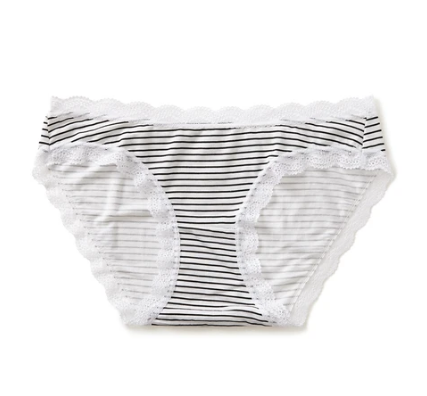 Knickers in Black Candy Stripe
