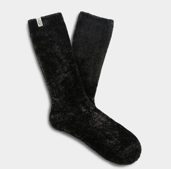 LEDA Cozy Crew Socks in Black