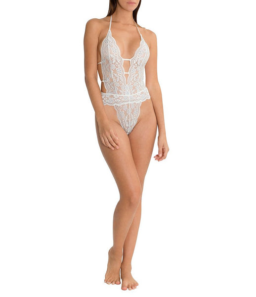 BLUE BELLE Lace Teddy in Ivory