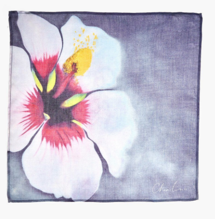 ARTIST SERIES II Hibiscus Handkerchief in Crown Blue