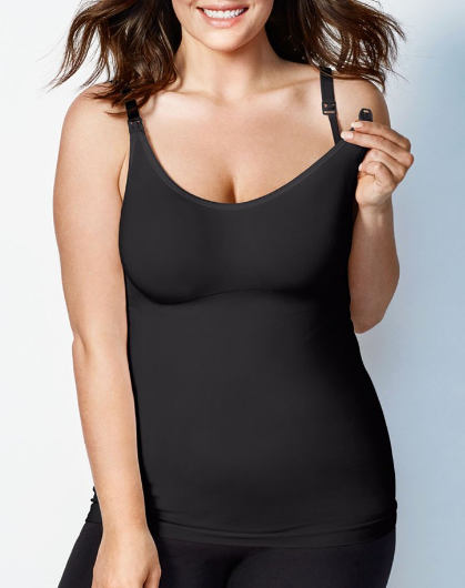 Body Silk Seamless Nursing Cami in Black