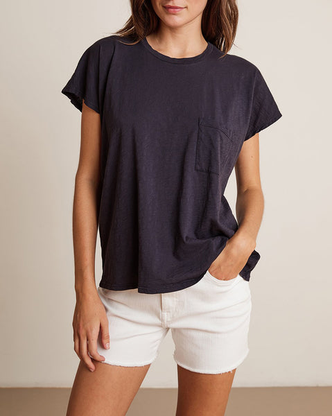 CARINE Short Sleeve Pocket Tee in Ink