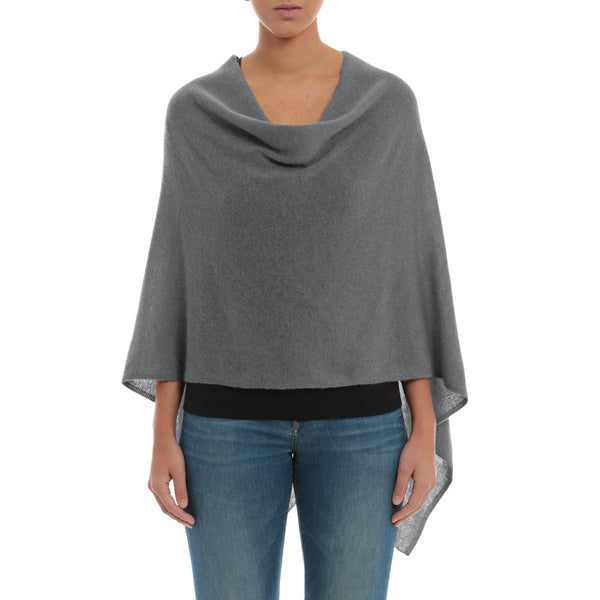 Cashmere Ruana in Grey Flannel