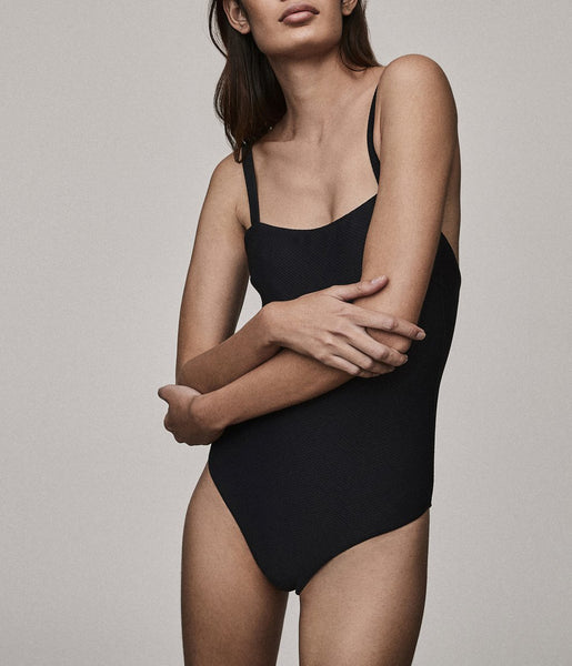 Classic One Piece in Jet Black