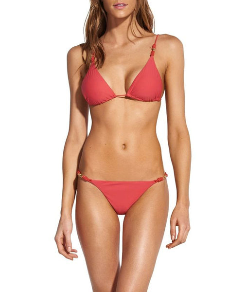 ROLL TRIM Triangle 2-Piece in Coral
