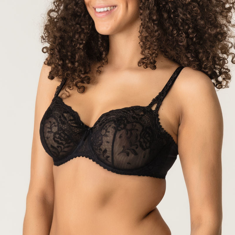 DELIGHT Balcony Bra in Black