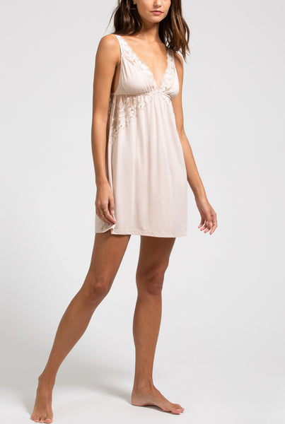 ROSALIA Elevated Chemise in Antique Rose