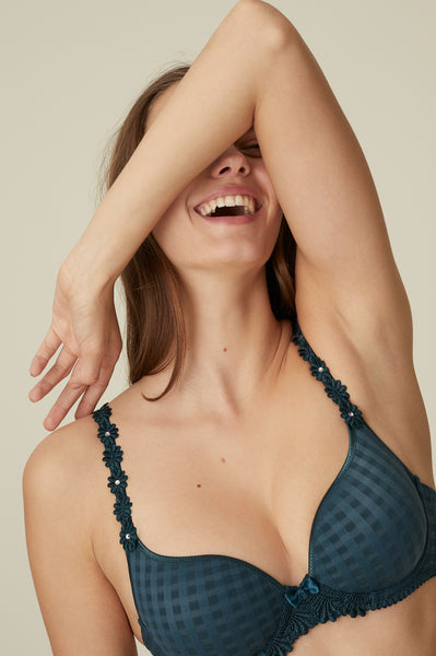 AVERO Padded Bra in Empire Green