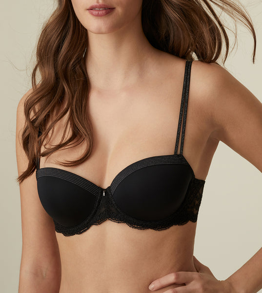 MARGOT Padded Balcony Bra in Black