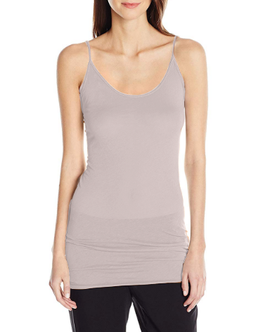 Tissue Jersey Tunic Tank in Heather Lilac