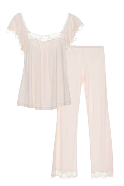 ESTELLE Cami & Pant Set in Pearl Pink