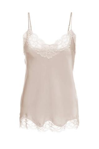 Floral Lace Cami in Nude Crystal