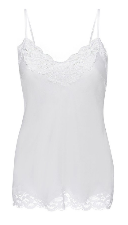 Floral Lace Cami in White