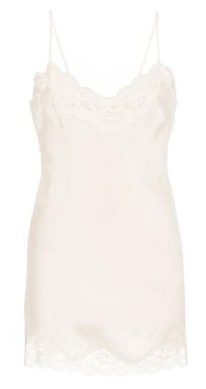 Floral Lace Tunic Chemise in White