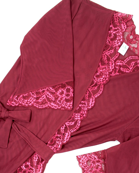 FORTUNA Robe in Garnet