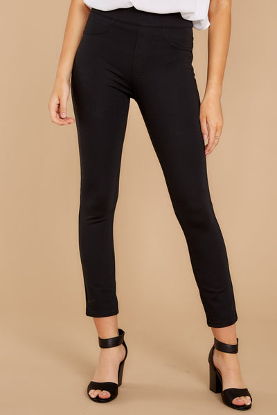 Four Pocket Skinny Ponte Pants in Black