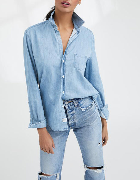 EILEEN Famous Denim Shirt in Classic Blue Wash