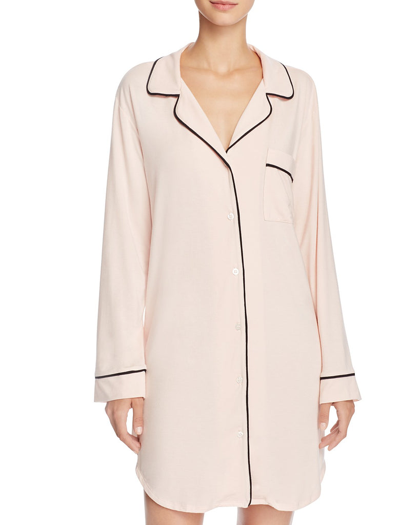 GISELE Sleepshirt in Sorbet/Black