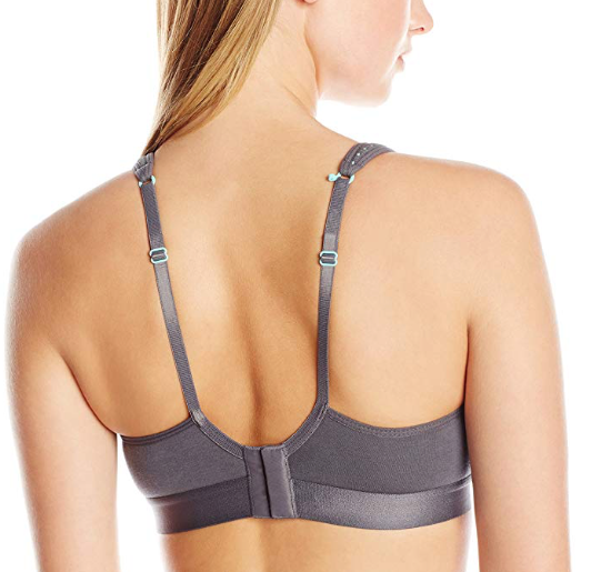 Sporty Mesh Nursing Sports Bra in Grey/Aqua