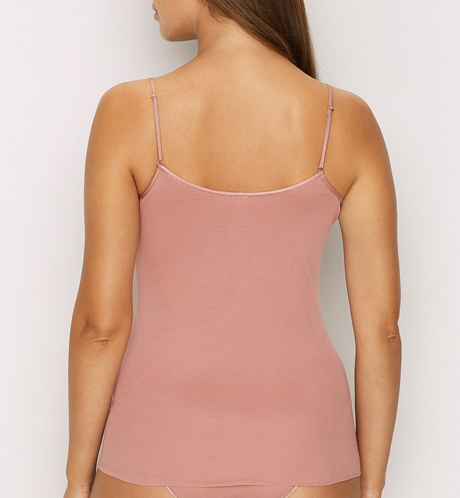 Seamless Cotton V-neck Cami in Rouge