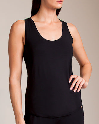 YOGA Racerback Tank in Black