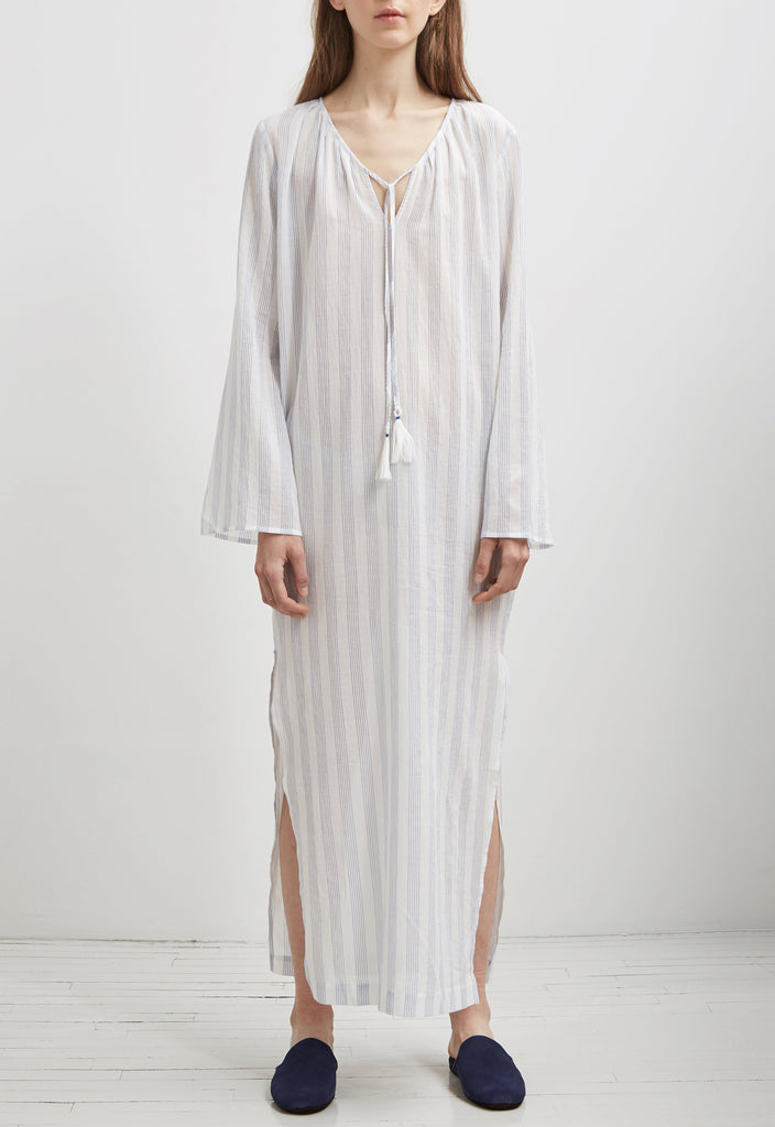 INES Caftan in White River Astri