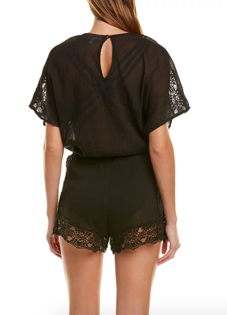 Island Fare Romper in Black