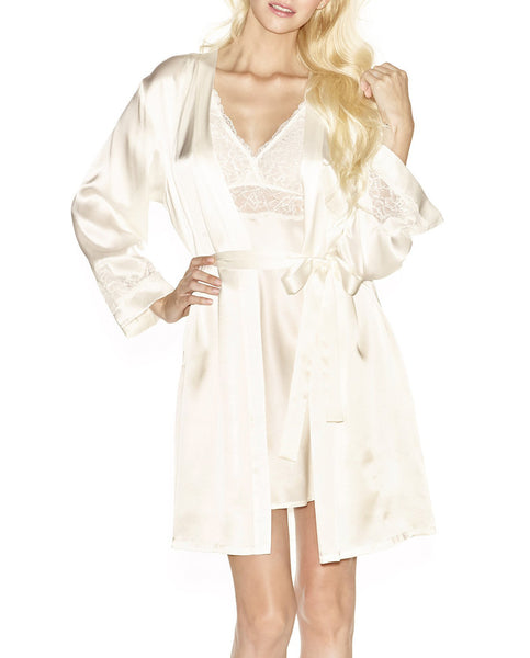 MORGAN Short Robe in Ivory