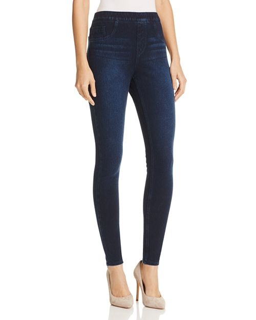 JEAN-ISH Ankle Leggings in Twilight Rinse