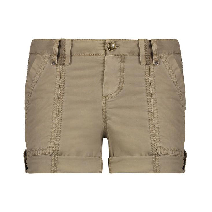 JO Stretch Poplin Shorts in Jute