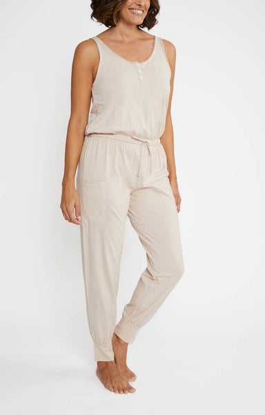 BRIE Cargo Jumpsuit in Antique Rose
