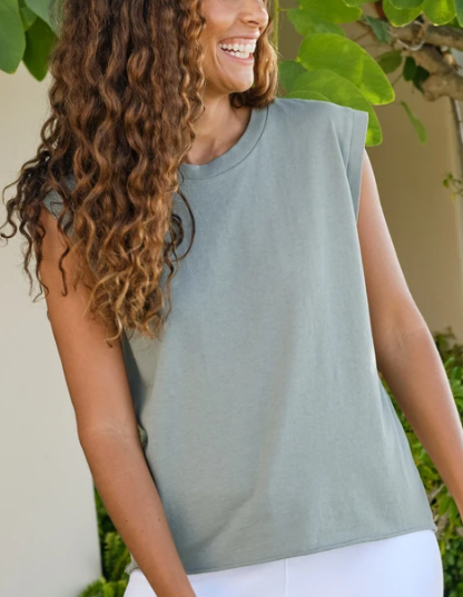LAB109 Vintage Muscle Tee in Sage