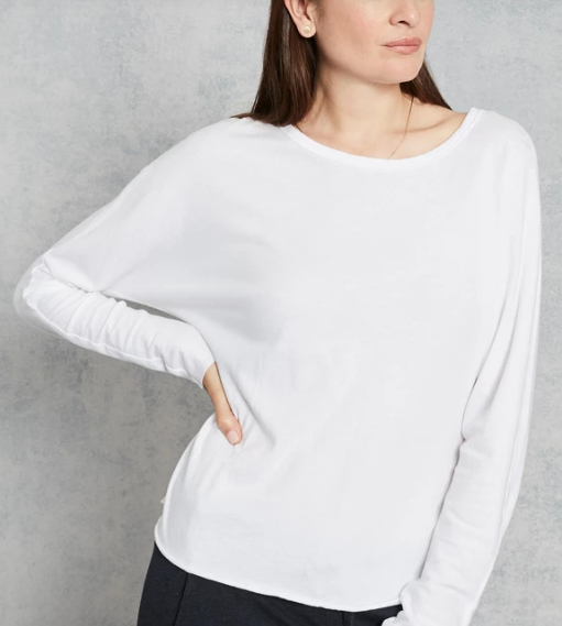 Continuous Sleeve Tee in White
