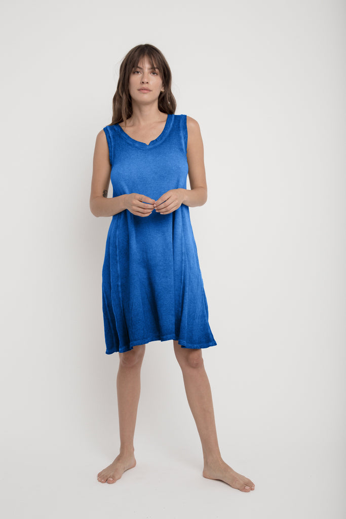LILY Tank Dress in Blue