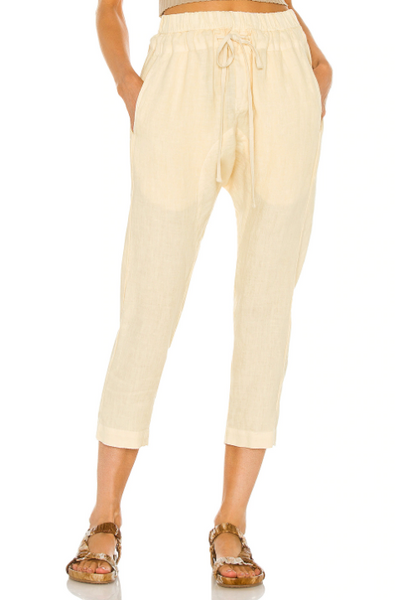 Linen Droprise Pants in Natural