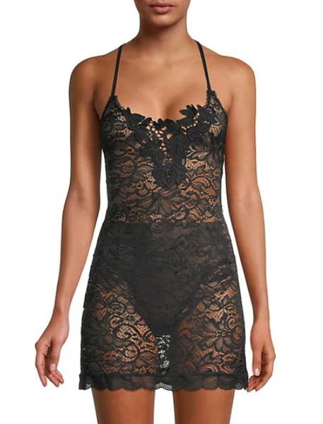 LOVE ME DO Chemise in Black