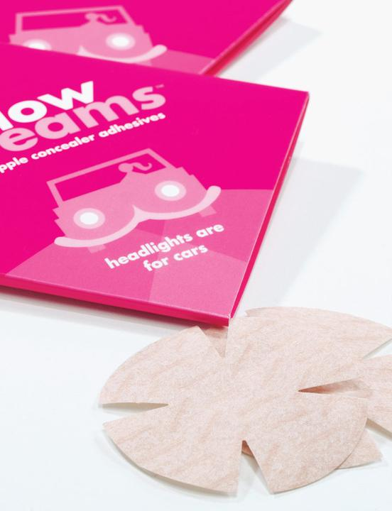 LOW BEAMS Single-Use Nipple Covers in Nude