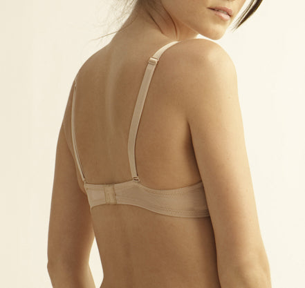 LUCIA Plunge Lace Convertible Bra in Nude