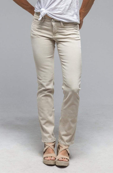 DREAM Straight Cotton Pants in Smoothly Beige