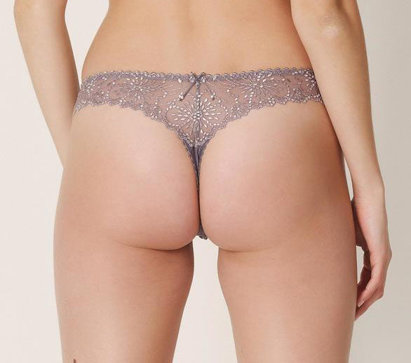 JANE Lace Thong in Iced Coffee
