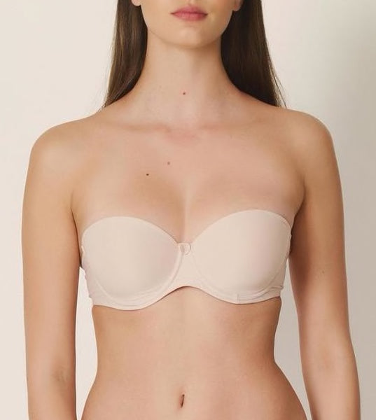 TOM Strapless Convertible Bra in Cafe Latte
