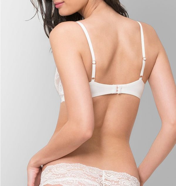 MINX Balconette Bra in White